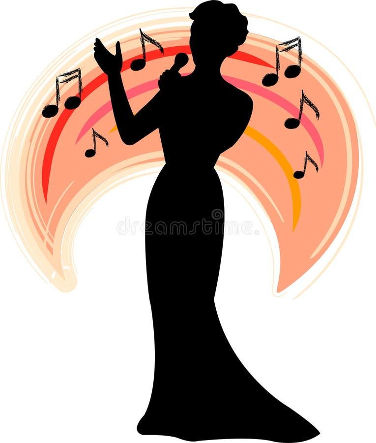 Fascia Singer/ai illustrazione di stock