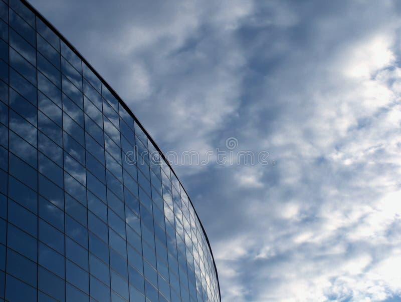 fascia szklany odbić niebo fotografia stock