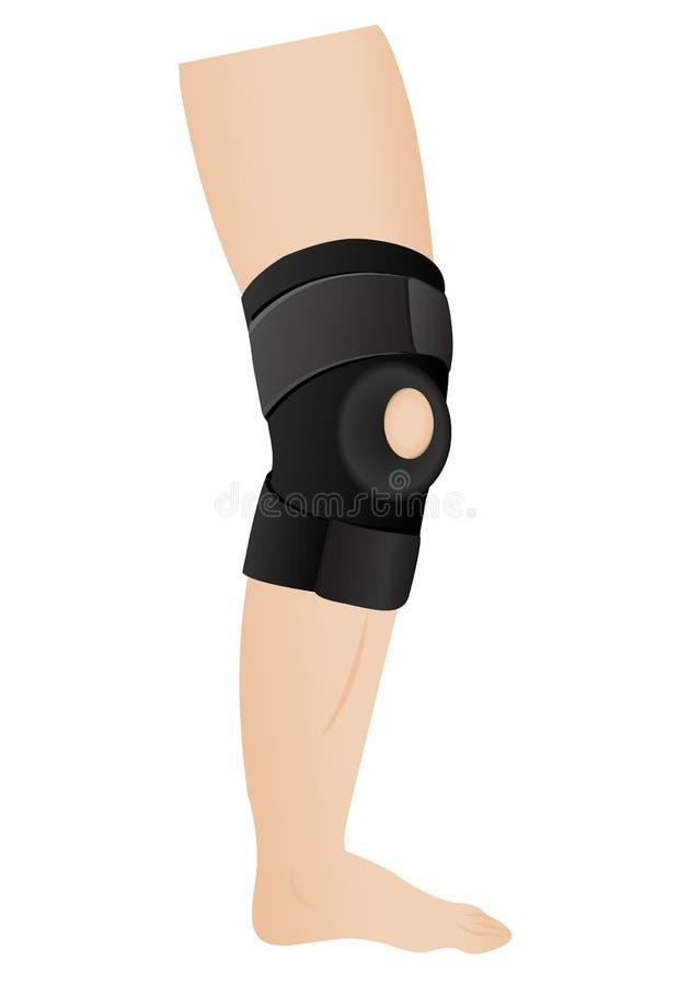 Fasciatura del ginocchio royalty illustrazione gratis