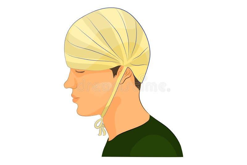 Fasciatura sulla testa illustrazione vettoriale