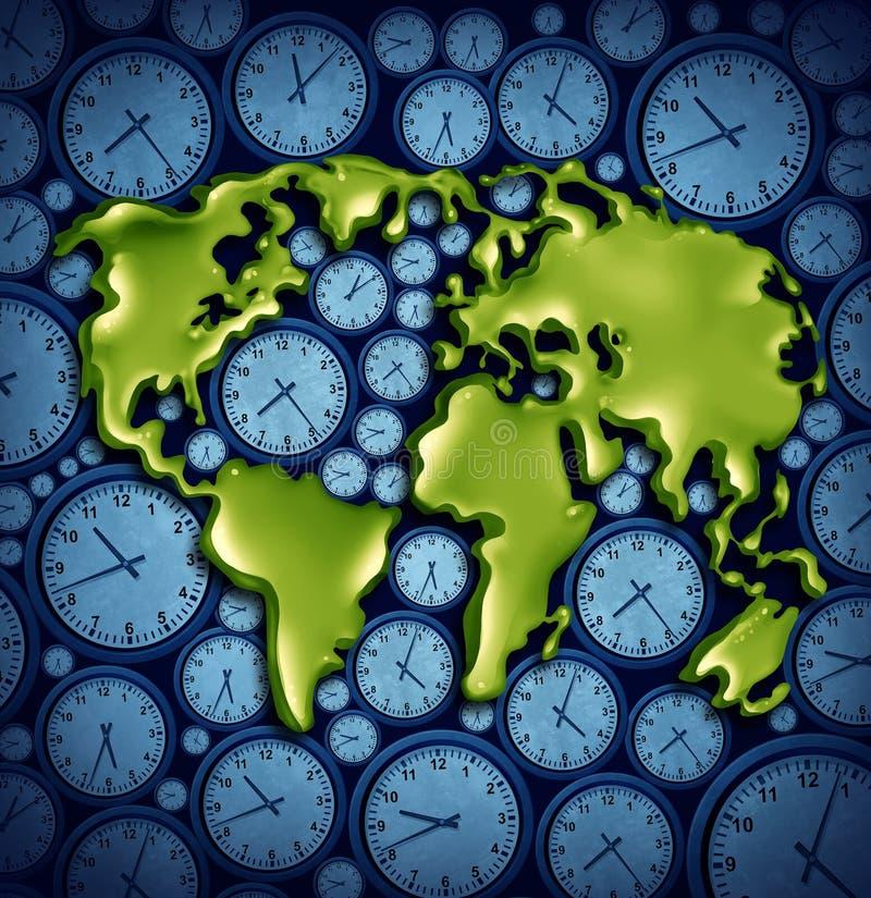 Fascie orarie del mondo illustrazione di stock