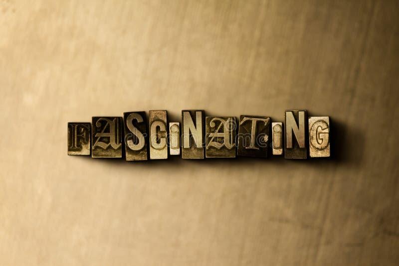 FASCINACIÓN - el primer del vintage sucio compuso tipo de palabra en el contexto del metal stock de ilustración