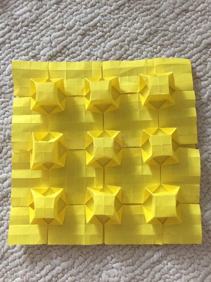 Fascinando 3 origâmis dimensionais foto de stock royalty free