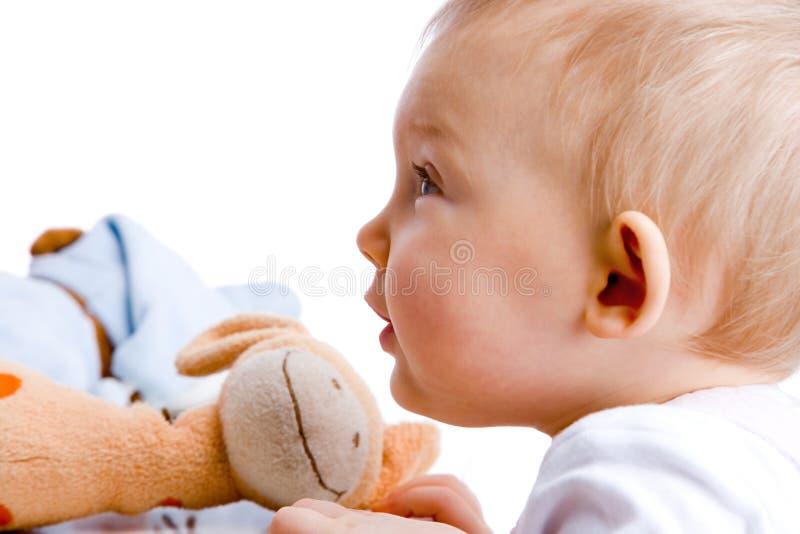fascinated младенец стоковая фотография rf