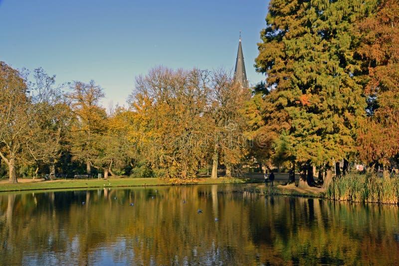 Fascinating autumn in Amsterdam stock photos