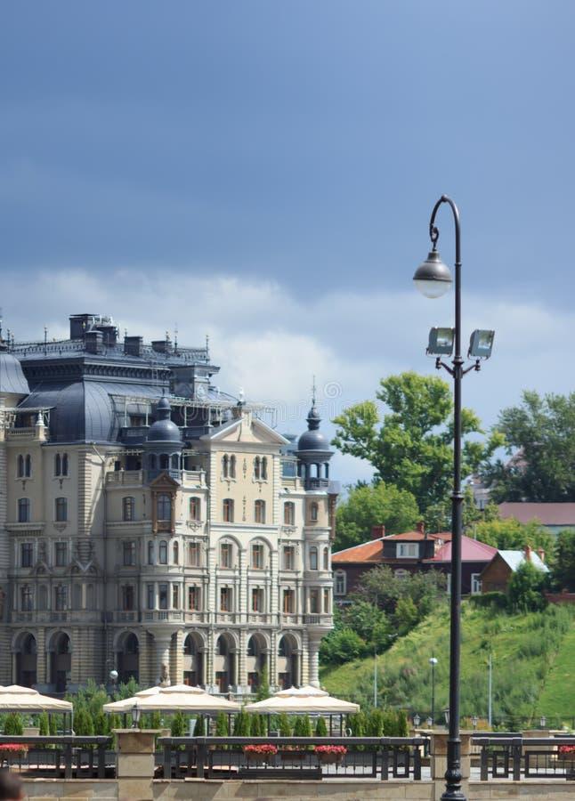 Luxury architecture in Kazan city. Embankment. royalty free stock photo