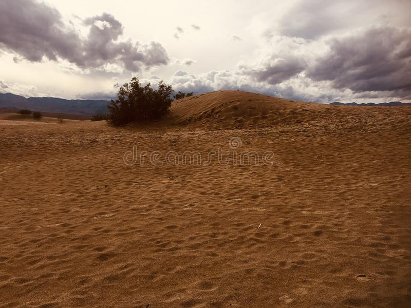 Sand Dunes in Death Valley National Park. Fascinating Red Sand Dunes in Death Valley Desert National Park-California stock photos
