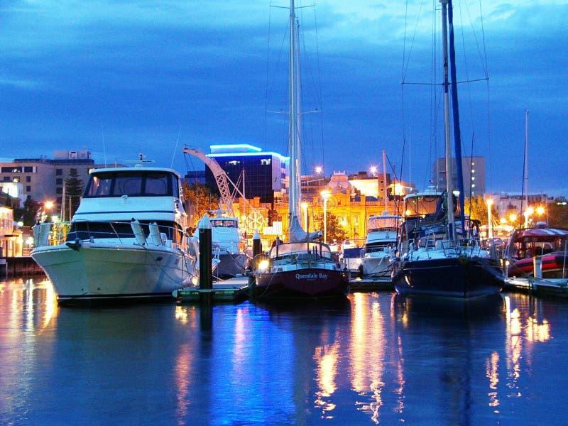 Fascinerande kort av huvudstad för Hobart, Tasmanien ` s fotografering för bildbyråer