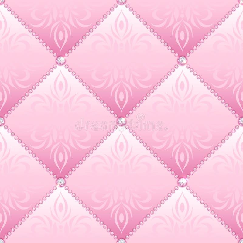 Fascino rosa senza cuciture illustrazione vettoriale