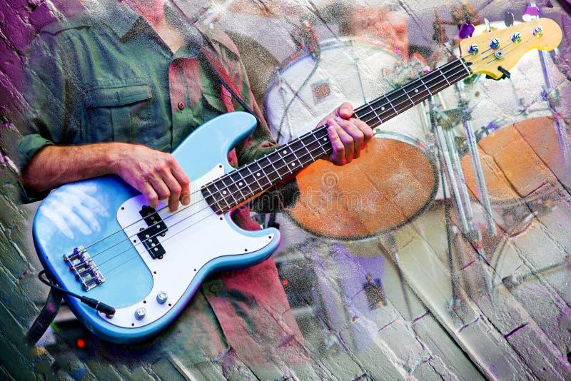 Fase abstrata dos músicos fotos de stock royalty free