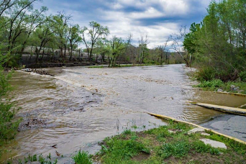 Fase acima da inundação do rio de Roanoke imagem de stock royalty free