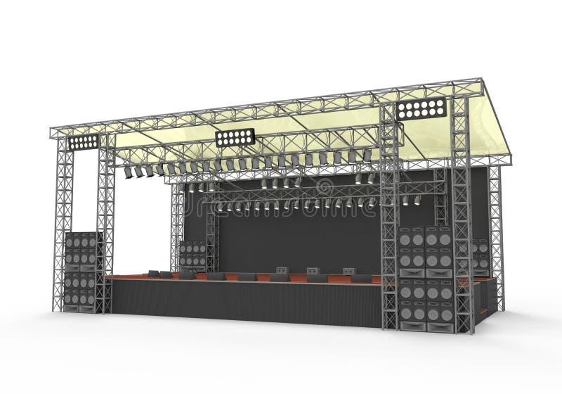 Fase all'aperto di concerto illustrazione vettoriale