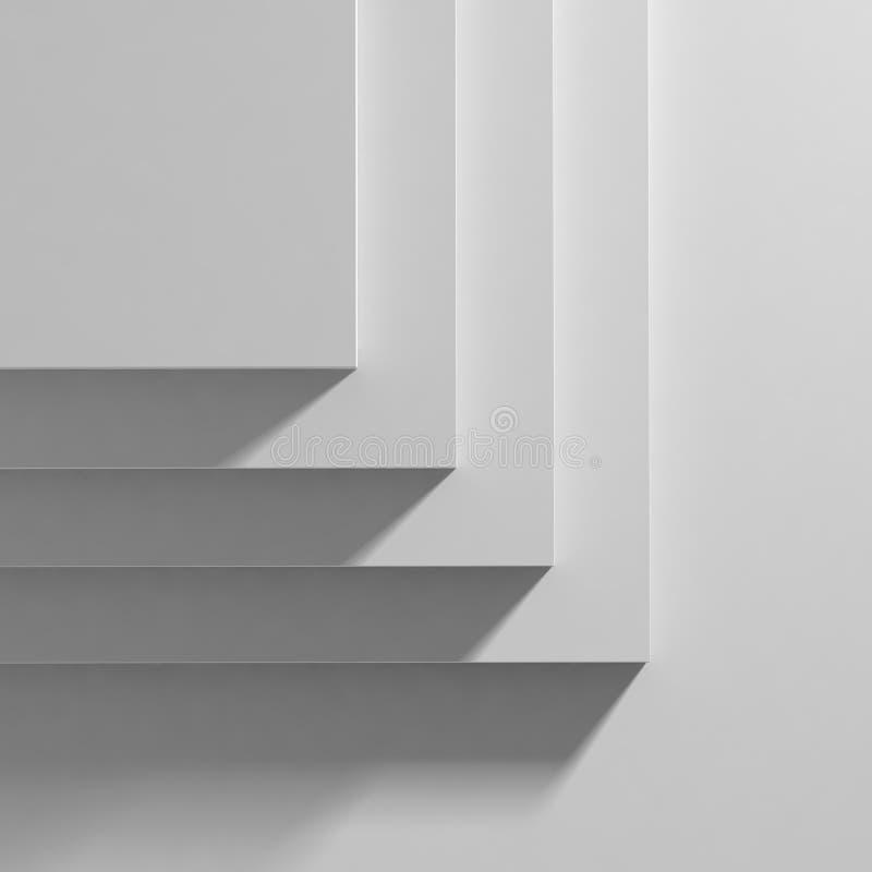 Fase bianca di manifestazione illustrazione di stock