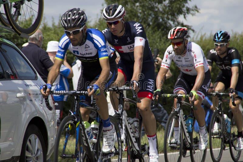 Fase 3 Cambridge Londres dos cavaleiros do Tour de France 2014 fotografia de stock