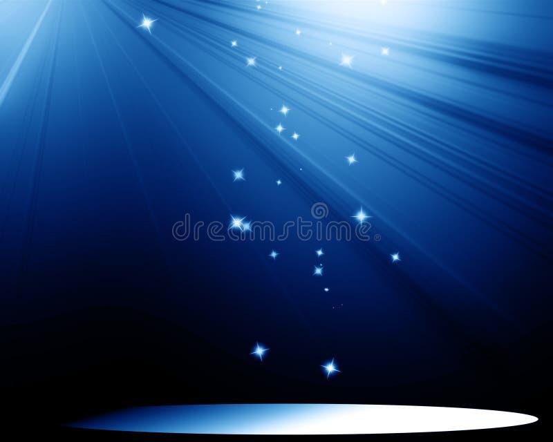 Fase com projector ilustração royalty free
