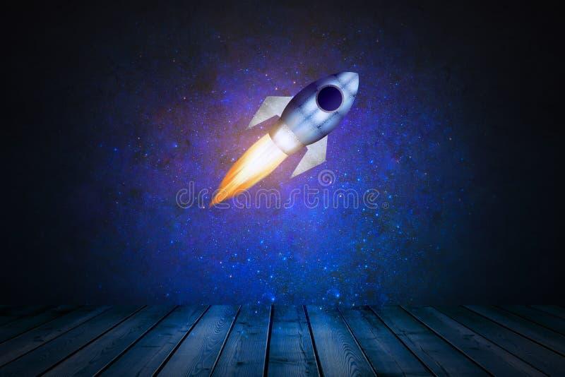 Fase con il razzo illustrazione di stock