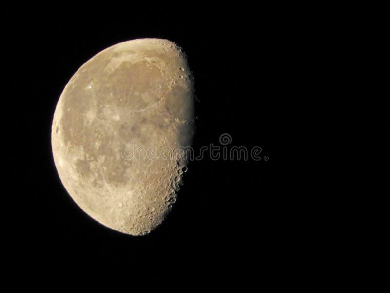 Fase da lua que enfraquece os 52 por cento Gibbous 5 24 19 foto de stock