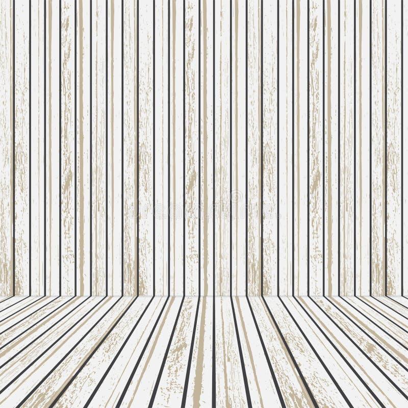 Fase de madeira branca e marrom para anunciar Conceito do entretenimento ilustração royalty free