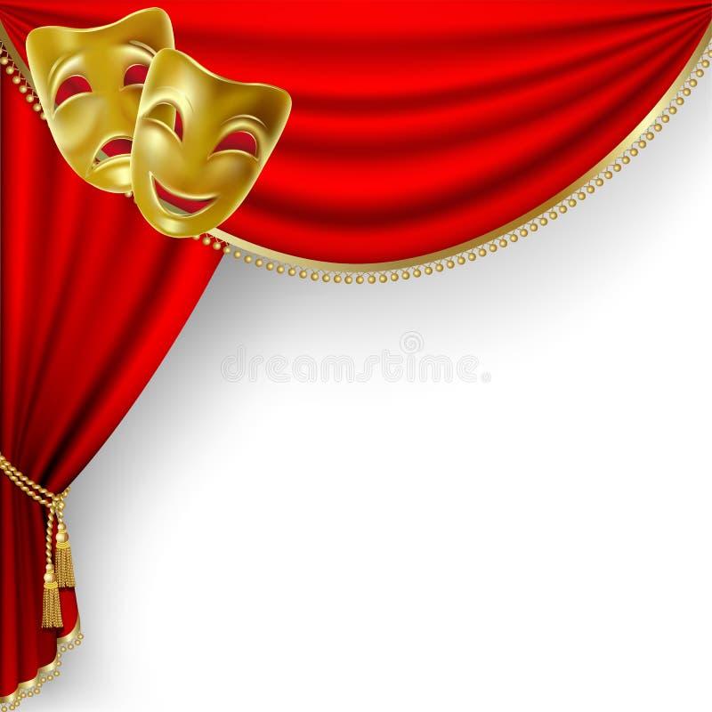 Fase del teatro. Maglia. royalty illustrazione gratis