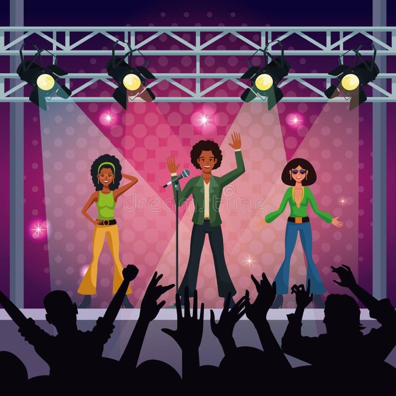 Fase di concerto di musica royalty illustrazione gratis