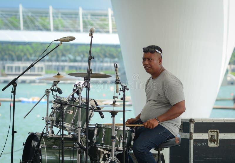 Fase di musica a Marina Bay a Singapore fotografie stock libere da diritti