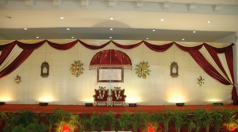 Fase di ricezione e di cerimonia nuziale immagine stock
