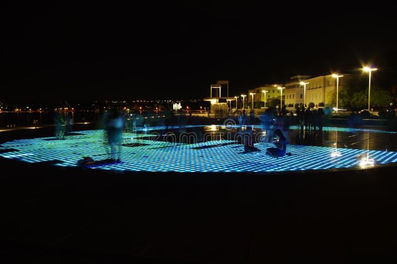 Fase di Sun in Zadar fotografia stock libera da diritti