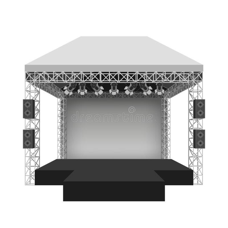 Fase do concerto do pódio Ilustração do vetor ilustração stock