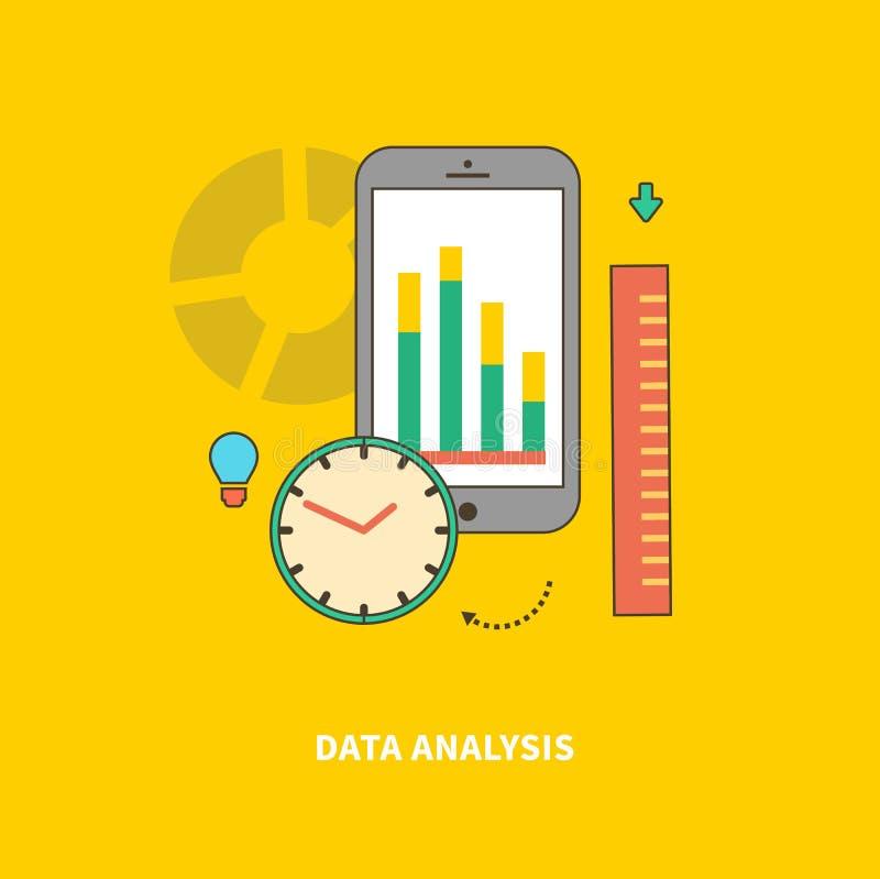 A fase do processo de negócios é análise de dados ilustração stock