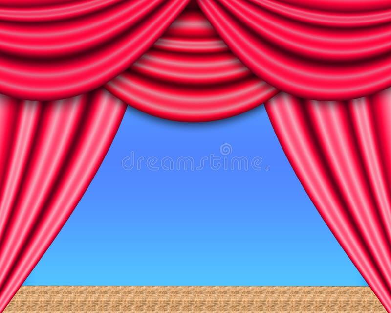 Fase do teatro ilustração royalty free