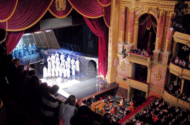 Fase do teatro da ópera de Budapest fotografia de stock