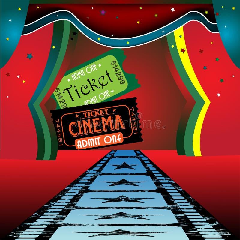 Fase e biglietti di film illustrazione vettoriale