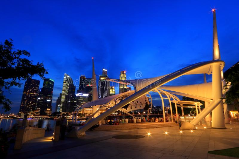 Fase exterior Singapura da esplanada imagens de stock royalty free