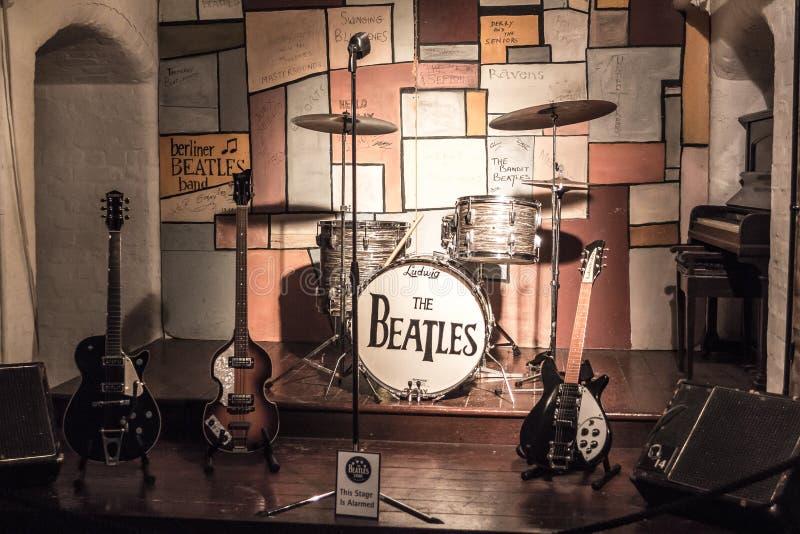 Fase leggendaria dove il Beatles stava giocando fotografia stock