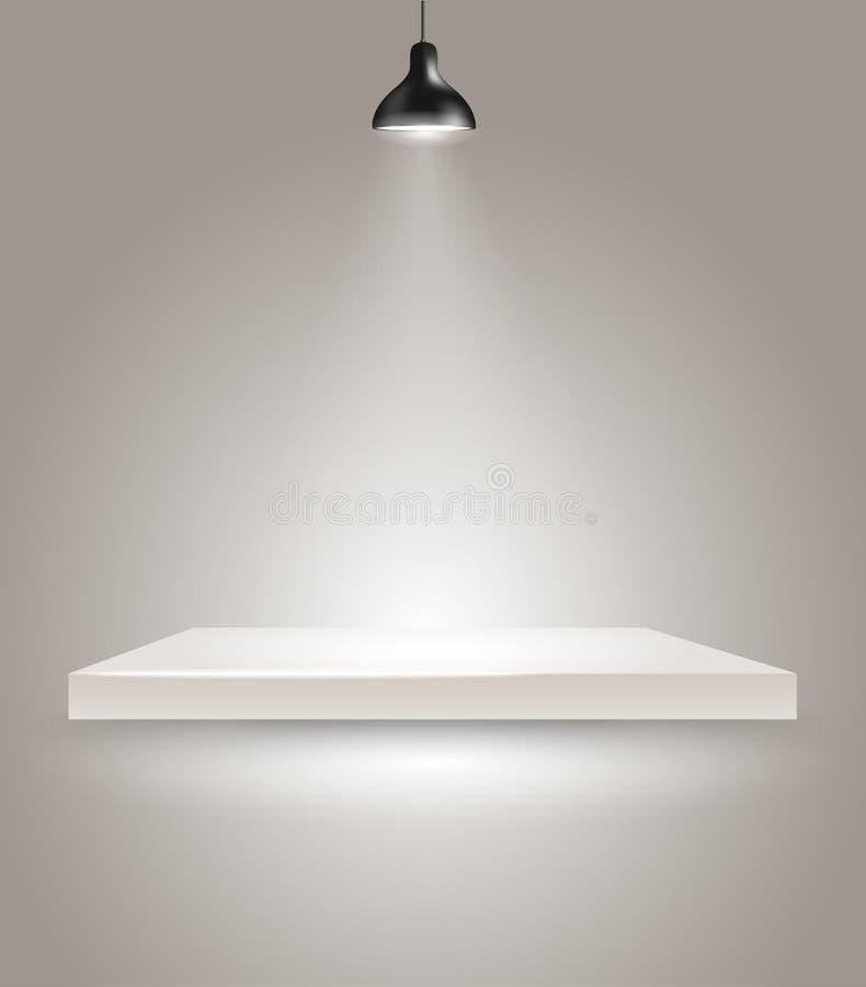 Fase luminosa con la lampada illustrazione di stock