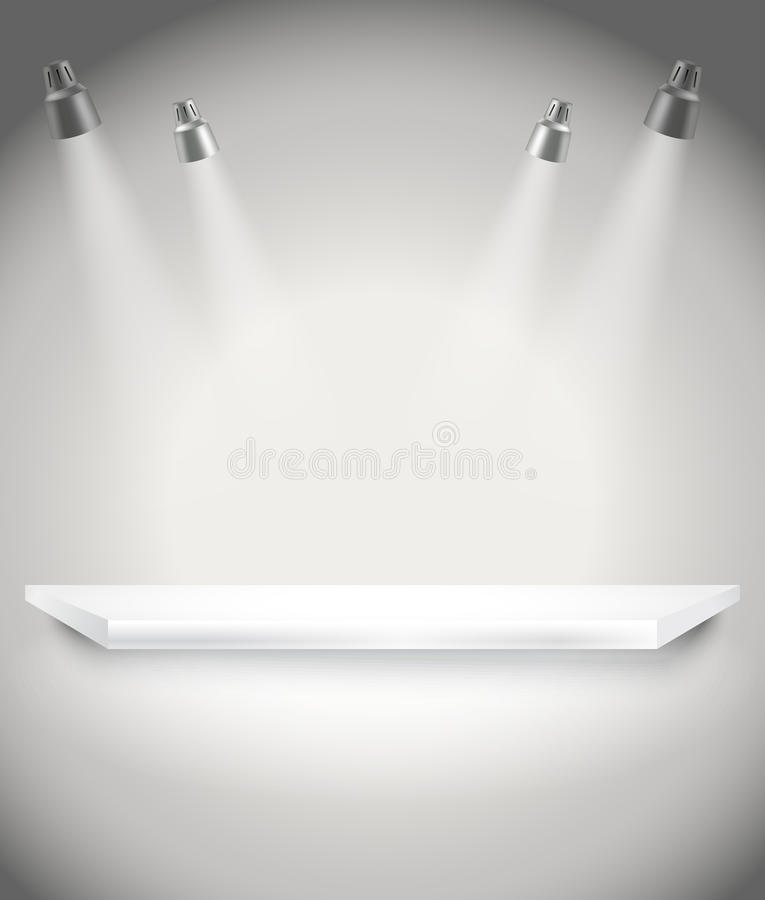 Fase luminosa fotorealistica con le luci del punto royalty illustrazione gratis