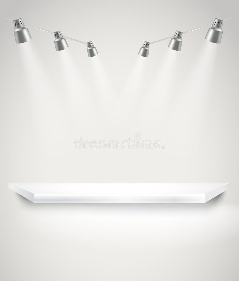 Fase luminosa fotorealistica con le luci del punto illustrazione di stock