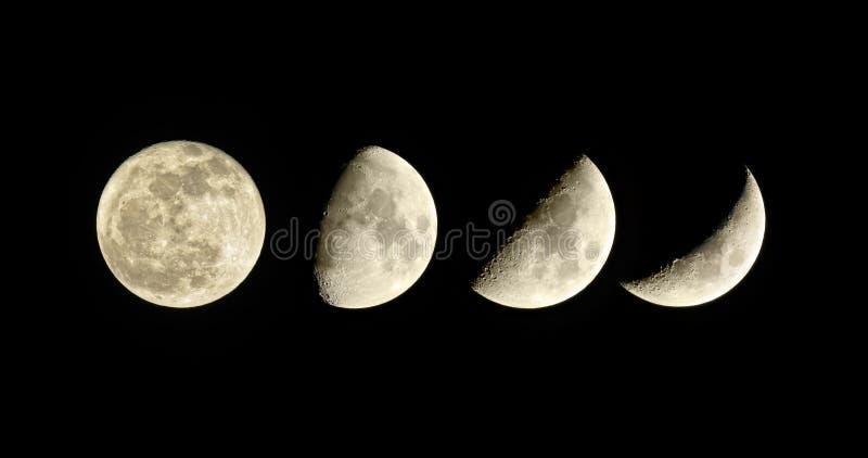 Fase lunare. Inceratura della luna. fotografia stock libera da diritti