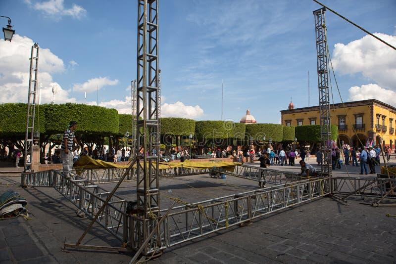 Fase que está sendo estabelecido-sea em México fotos de stock