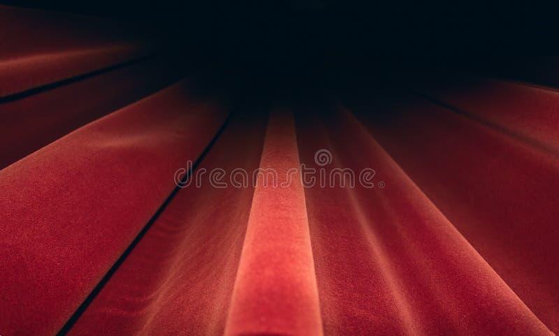 Fase rossa delle tende Concetto di immagine del teatro fotografia stock libera da diritti