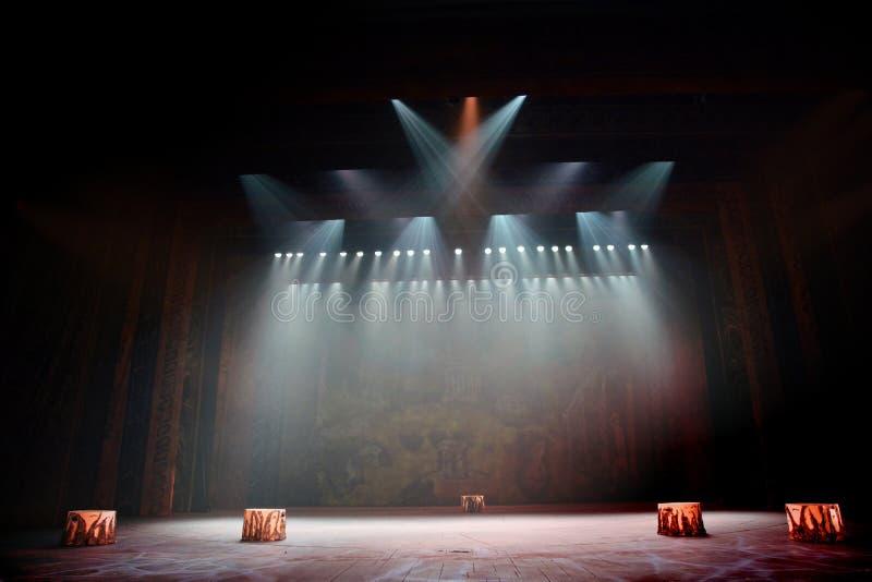 Fase teatral com cortina foto de stock royalty free