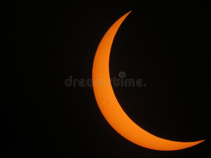 Fase total del eclipse lunar imagen de archivo