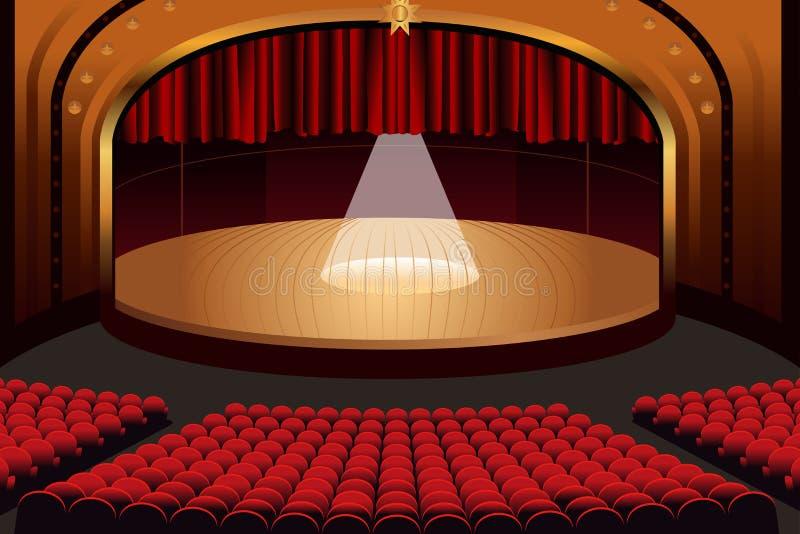 Fase vazia do teatro ilustração do vetor