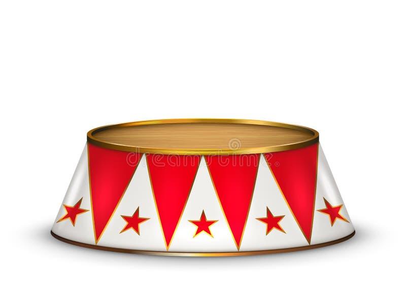 Fase vermelha do circo de veludo do vetor ilustração do vetor
