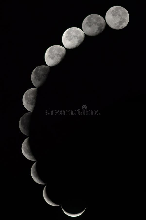 Fasen van de maan royalty-vrije stock fotografie