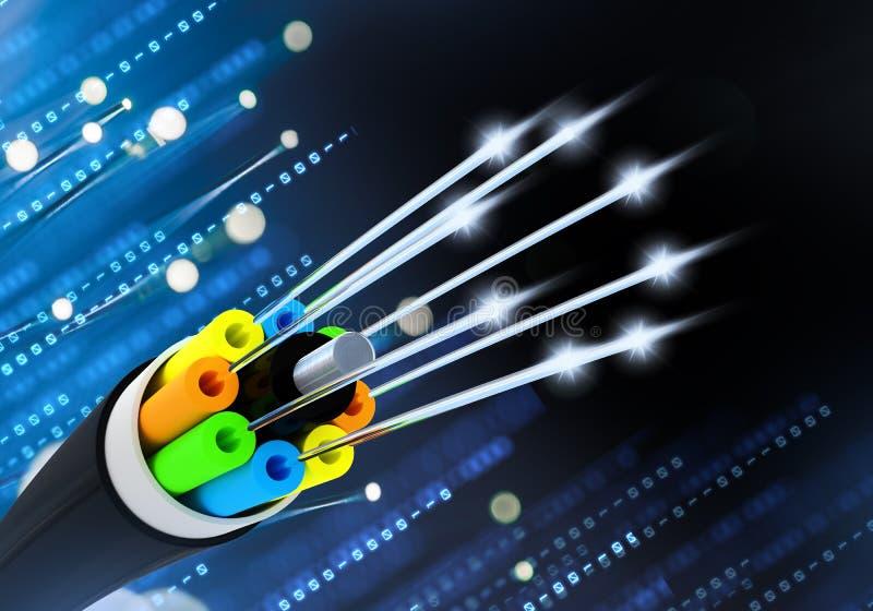 Faser-Lichtleiterkabel-Konzept lizenzfreie abbildung