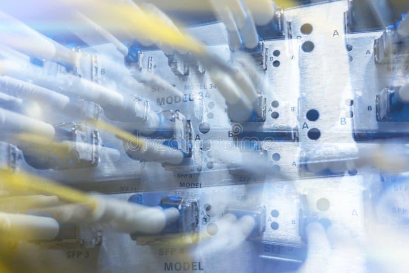 Faser Optik-Rahmen SFPs BNC lizenzfreie stockbilder