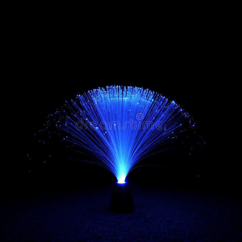 Faser-Optiklampe stockfoto