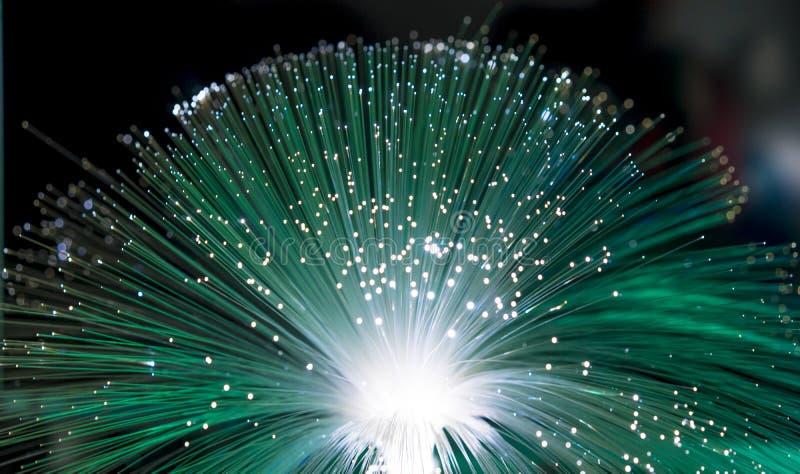 Faseroptik, Faser verlegt für ultraschnelles Internet communicatio stockfoto