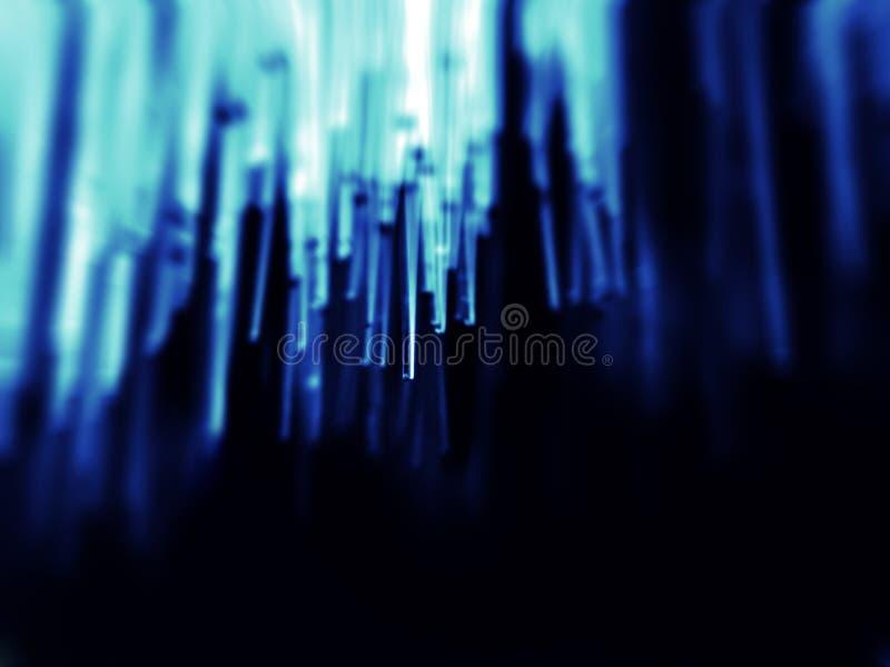 Faseroptik im Blau stockfotos